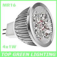 Free Shipping 3 x LED MR16 Spot Light Bulb 4W AC/DC 12V 4 Watt LED MR16 Spot Lamps Enegy Saving MR16 Bombilla Lampara LED 4x1W