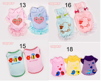 Lovely small dog clothes apparel pet dress free shipping Cheap Dog clothing 30pieces/lot(China (Mainland))