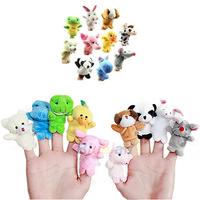10pcs/lot Velvet Finger Puppet for Kids Cute Children Small Mini Cloth Animal Design Set Play Learn Story Toy 1J53