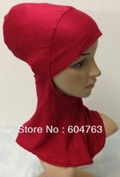 JSU010 Free shipping assorted colors High quality cotton muslim inner cap ninja underscarf hijab