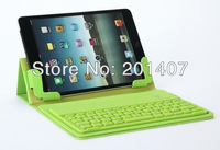 NEW K76s mini three folds silicone rubber case +BROADCOM 3.0  wireless bluetooth keyboard for ipad mini,Free shipping
