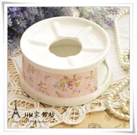 Rustic rose flower fruit tea glass tea set ceramic flower pot cup incense burner heated base