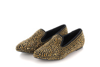 2013 new Europe and America British retro woman three-dimensional metal rivets flat shoes Wholesale freeshipping