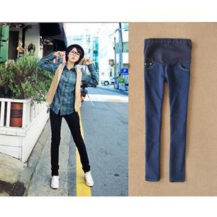 2012 soft autumn adjustable maternity skinny jeans pregant woman pants abdominal small foot  trousers M,L,XL,XXL,XXXL