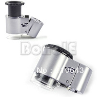 New Mini 50X Microscope Loupe LED Magnifier + Currency Detecting 5885