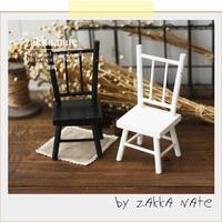 Zakka mini furniture dolls furniture accessories black and white small chair props
