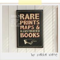 Zakka finaning door plate map decoration