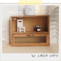 Zakka vintage solid wood drawers small desktop storage cabinet cosmetics perfume storage cabinet