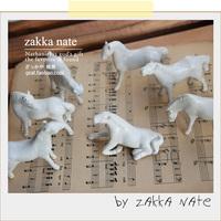 White ceramic zakka eight horses derlook props white horse
