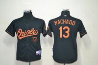 2013 Youth baseball Jersey  #13 Manny Machado Baltimore Orioles  black cool base kids Jersey , 100% Stitched sewn