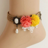 Free shipping 12pc/lot wholesale handmade vintage hemp rope charm anklets bracelets 2013 new arrival