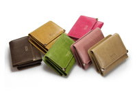2013 Candy Color NUBUCX LEATHER Light Gold Heart Rivet Ladies clutch wallet pouch/clutch Free shipping