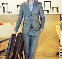 Men's clothing slim suit suits male suit set male marriage tie the groom suit male