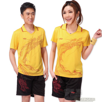 Table tennis ball f33 sportswear set lovers short-sleeve shirt shorts volleyball suit  Lovers suit luxury fashion brand