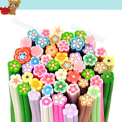 1 Packet(50PCs) Big Flower Mixed Pattern Polymer Clay Nail Art Canes Decoration Nail Beauty 11777(China (Mainland))