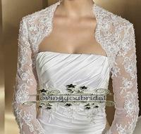 Bridal Wraps Long Lace Sleeve Bolero For Wedding Dress Bolero bridal dress