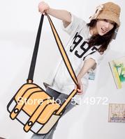 Best Selling!!2013 new fashion lady's 3D Messenger Bag women cartoon bag cross body bags Free Shipping