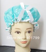 10 pcs/lot Free shipping double waterproof big size lady's beauty shower cap