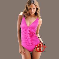 Women one piece swimwear swimsuit hot springs ultrafine fabric