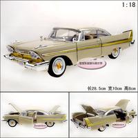 Webworm exquisite 1958 fury alloy car model
