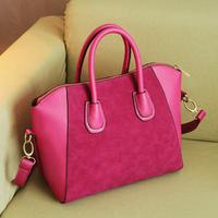 Free shipping 2013 messenger bag Special design soulder bag fashion handbags women's dull polish totes