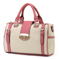 Smarten PU fashion bag 2013 women's casual handbag color block handbag messenger bag