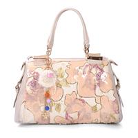 Cutout women's 2013 paillette handbag messenger bag tassel bag summer PU
