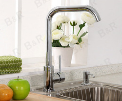 Freeshipping New arrival copper hot and cold kitchen sink mixer tap brass faucet LH-8119(China (Mainland))