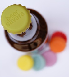 Silicone Bottle Cap/ Wine Cap /Beer Cap 6pcs/bag Mix Color(China (Mainland))