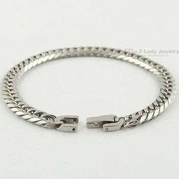 Girls Женщиныs Stainless Steel Link Chain Bracelet 2013 Модный Jewellery,  , WB119