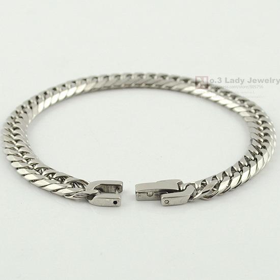Девочки женщин нержавеющая сталь цепочка звеньевая браслет ювелирные изделия, Wb119