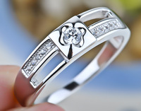 Newest design 925 sterling silver rings Lover's rings Wedding jewelry GNJ0147 man and women (if fake- triple refund)