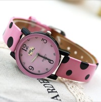 Manufacturers Wholesale Mickey Dot Strap Watch Female Table Quartz Movement Watch Fashion And Lovely watch DHL Free Shipping