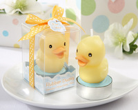 10pcs/LOT New rubber duck candle +Baby shower favors gifts party decoration+ Free shipping