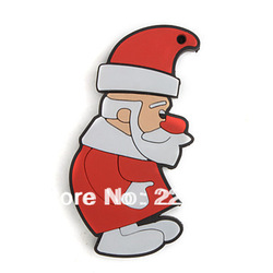 Free shipping Father Christmas USB Flash Drive 2GB 4GB 8GB 16GB 32GB 100% full capacity(China (Mainland))