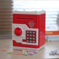 Large password box piggy bank piggy bank automatic roll huazhung mini atm piggy bank child day gift