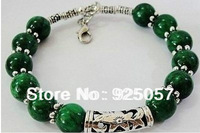 PRETTY NEW IN TIBETAN SILVER MALACHITE BRACELET Fashion jewelry