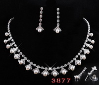 Hot Sale Free Shipping Rhinestone Wedding Necklace Set  Factory Price.Charm Bride Wedding Jewelry Set