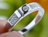 Newest design Lover's rings Wedding jewelry 925 sterling silver unisex ring GNJ0149 (if fake- triple refund)