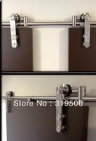 Modern Stainless Barn Door Hardware for Wood Door free shipping