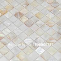 FREE SHIPPING Shell Mosaic Tiles, Naural Mother of Pearl Tiles, kitchen backsplash, bathroom wall flooring tiles