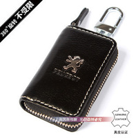 Auto Key Bag For Peugeot Ford Mazda Logo Toyota Key Case Keybag Keychain Car Logo Holder Key Ring Gift Genuine Leather HK post