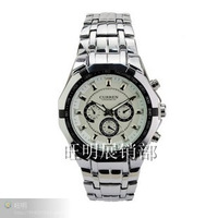 1Pcs Curren 8084 white flour  wrist watch