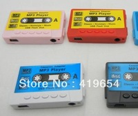 Type Mini MP3 Player Gift Music Player With TF Micro SD Card Slot + Earphone + Usb Cable + Crystal Box 50pcs/lot Free Shipping