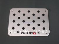 New Aluminum Floor Pedal Foot Mat Pad Pedal For Nissan Qashqai Altima Maxima Versa Tiida GT-R Patrol 370Z Juke Quest NISMO