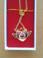 Sailor Moon Pretty Guardian Pretty Solider Golden Wing Heart Necklace Anime Gift Box Cosplay Free Shipping