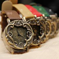 Fashion vintage rustic rattan flower watches women's vintage watch antique brass vintage watch
