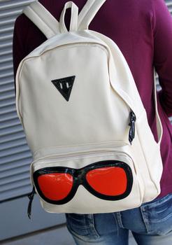 Cartoon 2012 PU women's preppy style student backpack school bag backpack