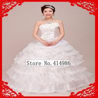 HOT Free shipping new designer bride dress Diamond compact lace sweet neat princess wedding dress HS021