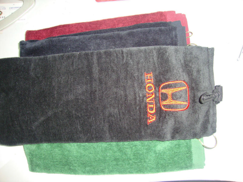 100% Cotton Customized Logo Golf Towels(China (Mainland))